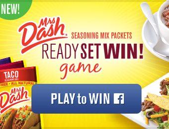 Mrs. Dash READY, SET, WIN! Game