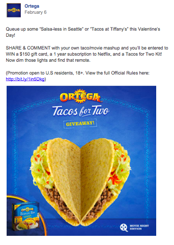 Ortega Tacos for Two Social Media Campaign
