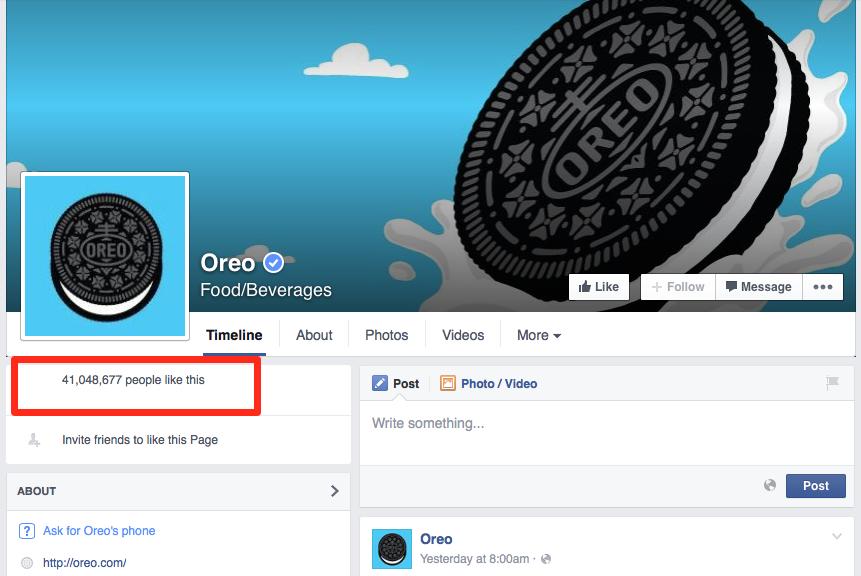 Oreo Likes 2015