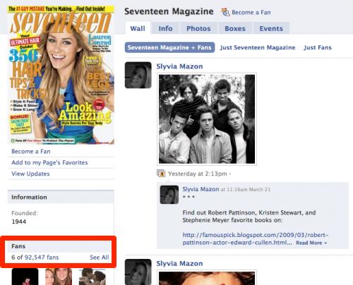 Seventeen Mag Likes 2009